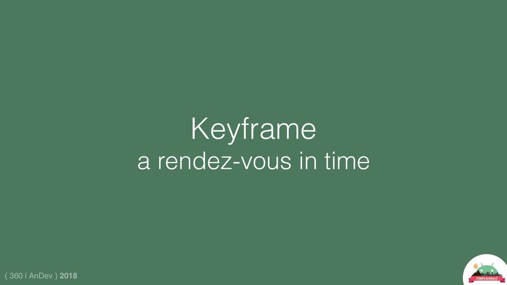 { 360 | AnDev } 2018 Keyframe a rendez-vous in ...