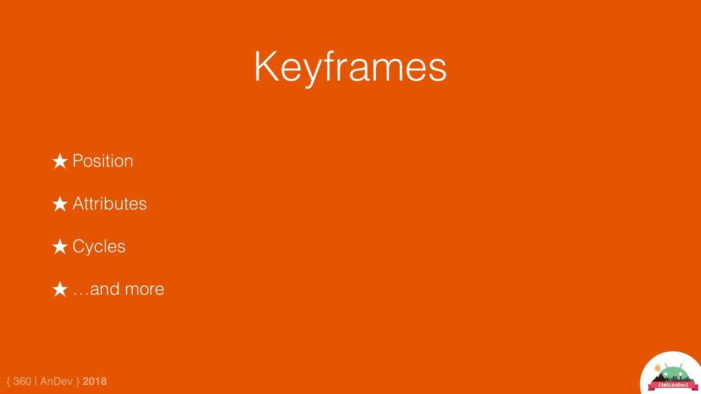 { 360 | AnDev } 2018 Keyframes ★ Position ★ Att...