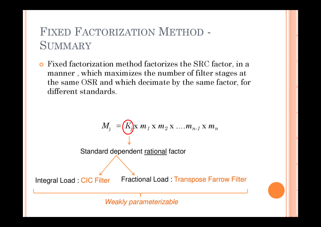 FIXED FACTORIZATION METHOD - SUMMARY Fi d f t i...