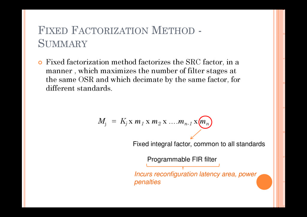 FIXED FACTORIZATION METHOD - SUMMARY Fi d f i i...