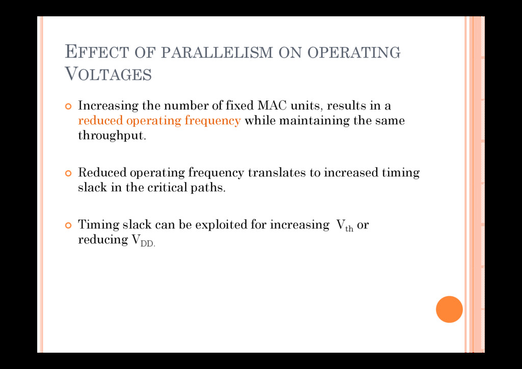 EFFECT OF PARALLELISM ON OPERATING VOLTAGES I i...