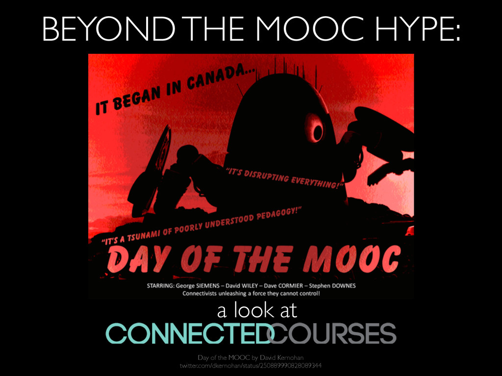 BEYOND THE MOOC HYPE: a look at Day of the MOOC...