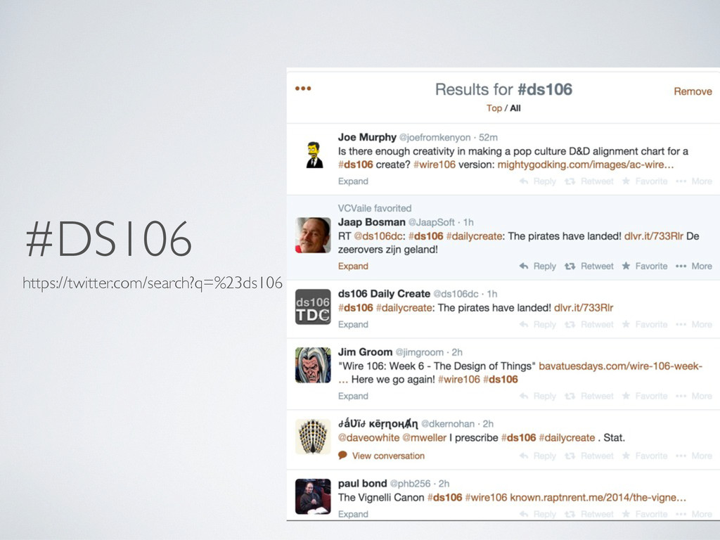 #DS106 https://twitter.com/search?q=%23ds106