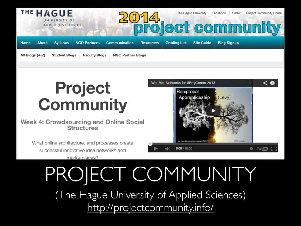 PROJECT COMMUNITY (The Hague University of Appl...