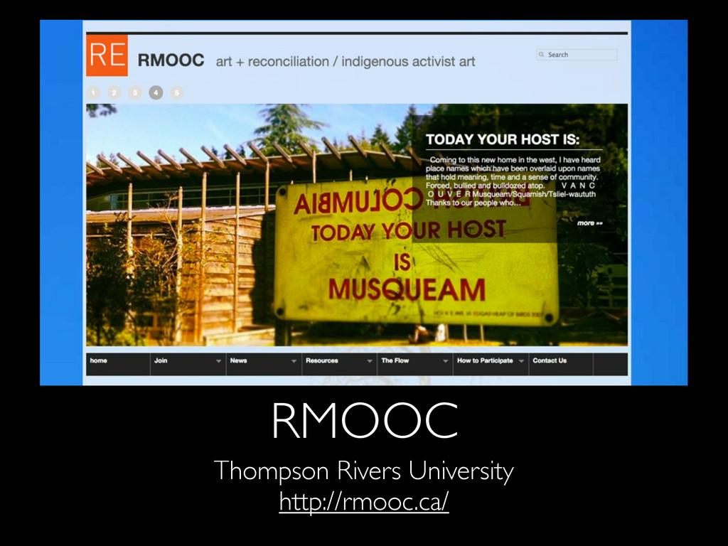 RMOOC Thompson Rivers University http://rmooc.c...