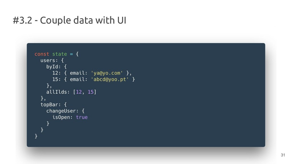 #3.2 - Couple data with UI 31