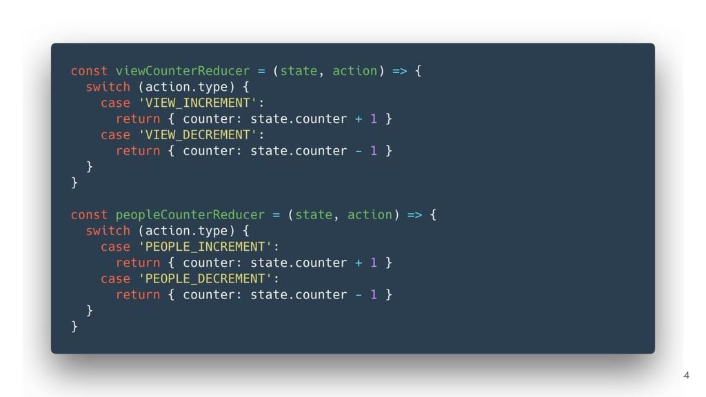 #5 - Duplicate reducer logic 44