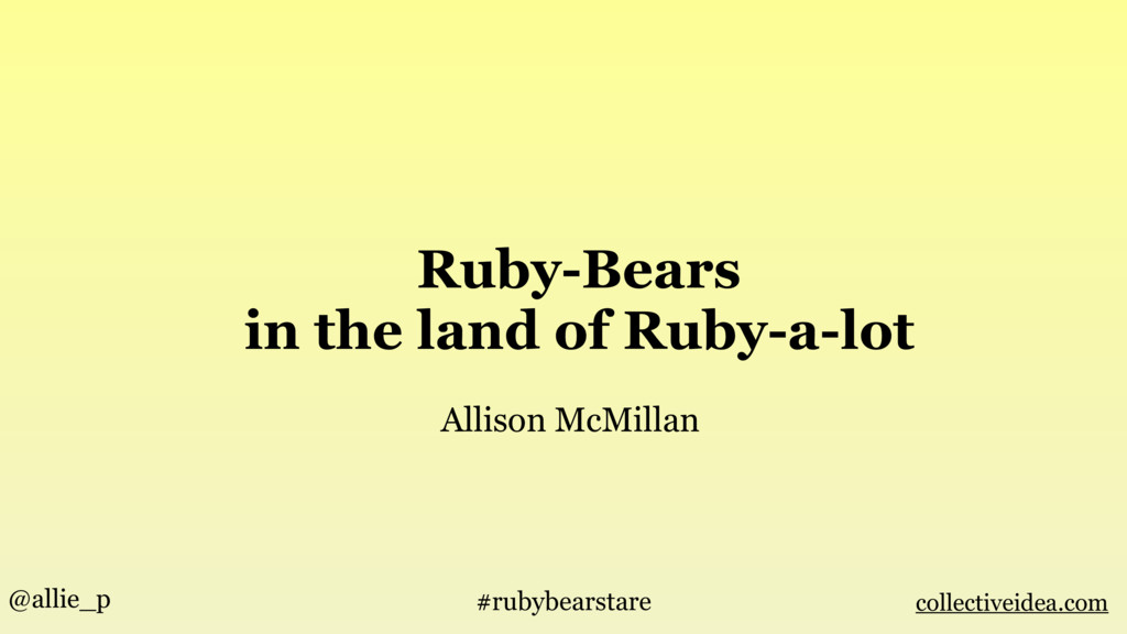 Ruby-Bears in the land of Ruby-a-lot Allison Mc...