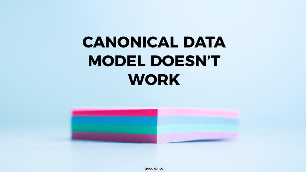 goodapi.co CANONICAL DATA MODEL DOESN'T WORK go...