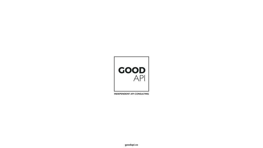 goodapi.co GOOD API INDEPENDENT API CONSULTING