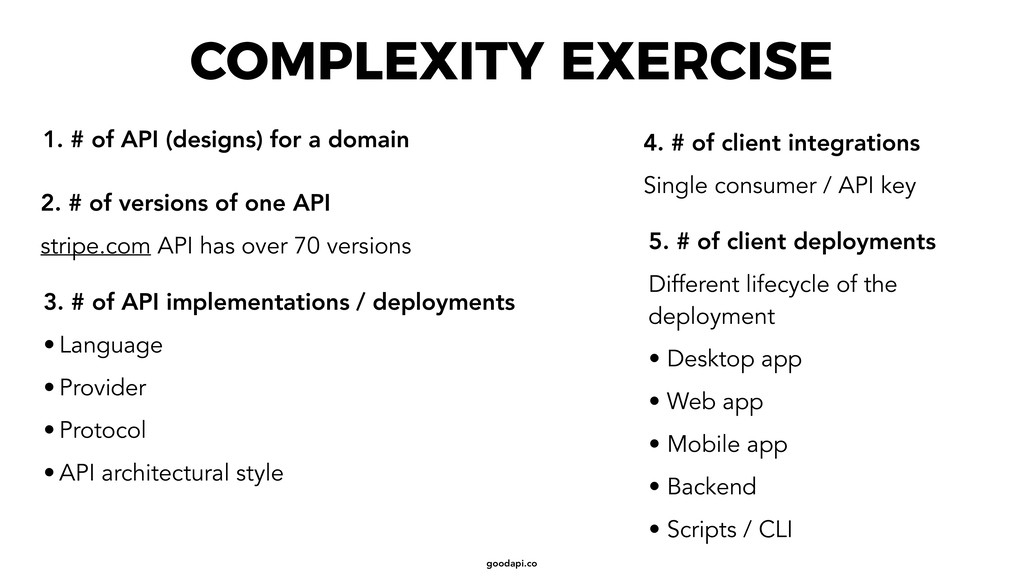 goodapi.co COMPLEXITY EXERCISE 5. # of client d...