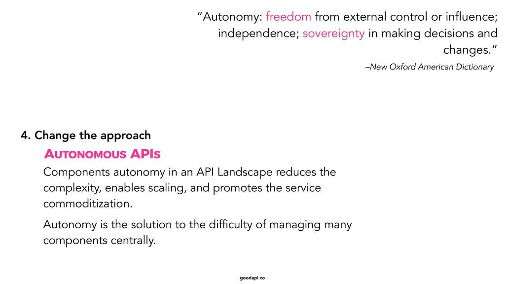 goodapi.co Components autonomy in an API Landsc...