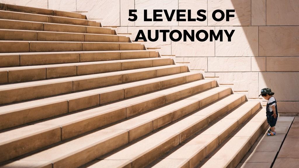goodapi.co 5 LEVELS OF AUTONOMY