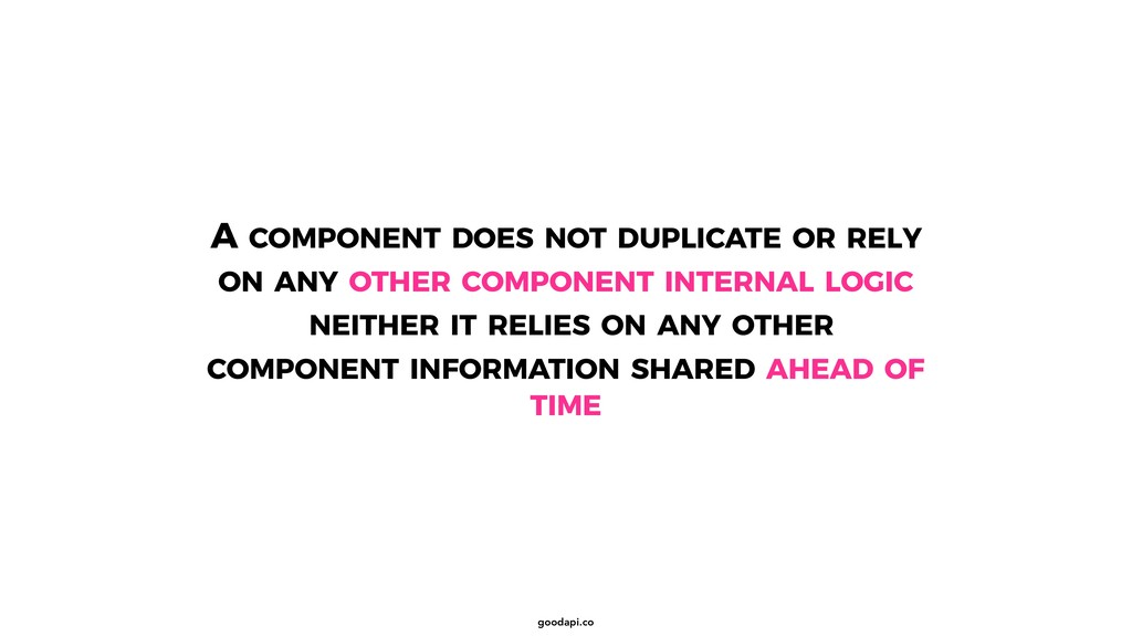 goodapi.co A COMPONENT DOES NOT DUPLICATE OR RE...