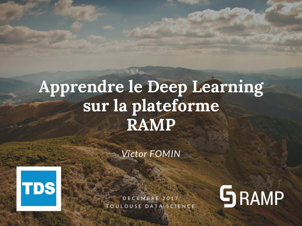 Apprendre le Deep Learning sur la plateforme RA...