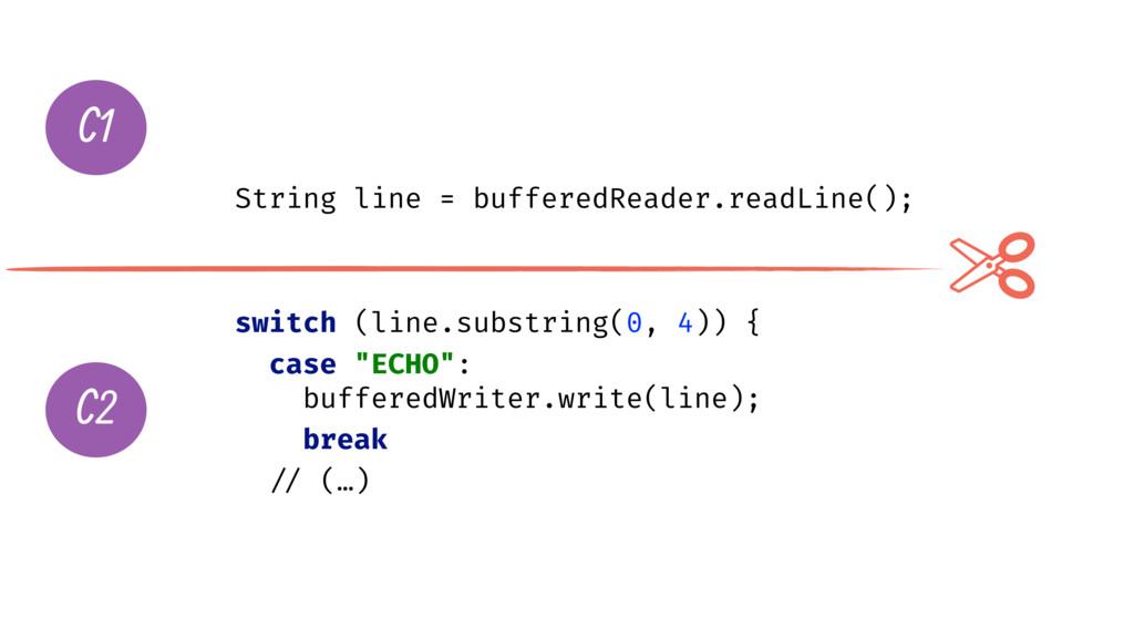 String line = bufferedReader.readLine(); switch...