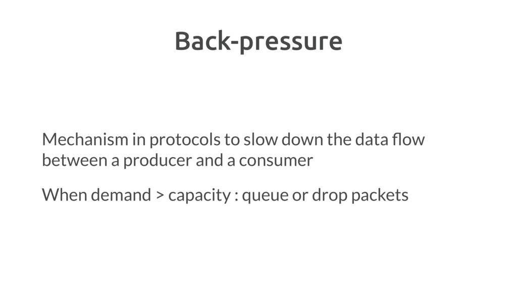 Back-pressure Mechanism in protocols to slow do...