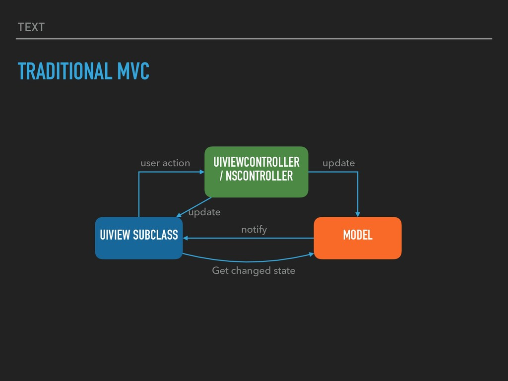 TEXT TRADITIONAL MVC UIVIEWCONTROLLER / NSCONTR...
