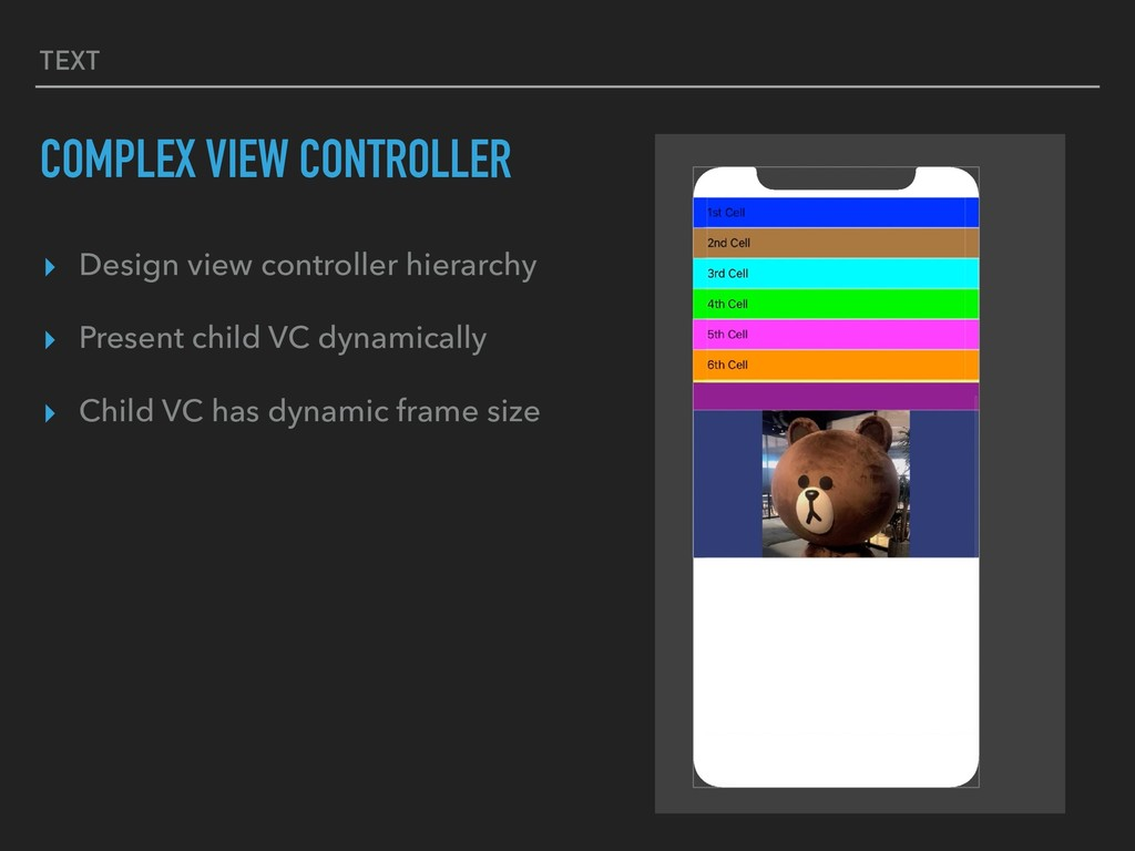 TEXT COMPLEX VIEW CONTROLLER ▸ Design view cont...