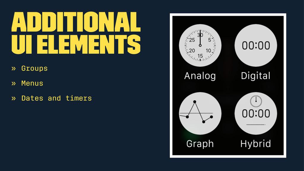 Additional UI elements » Groups » Menus » Dates...