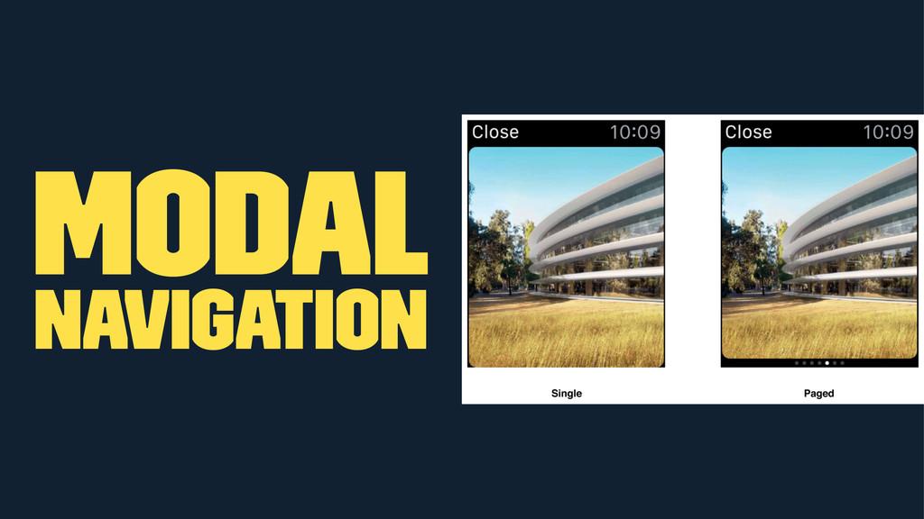 Modal Navigation