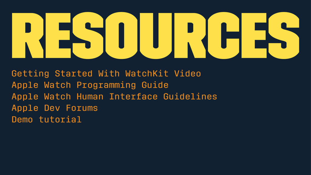 Resources Getting Started With WatchKit Video A...