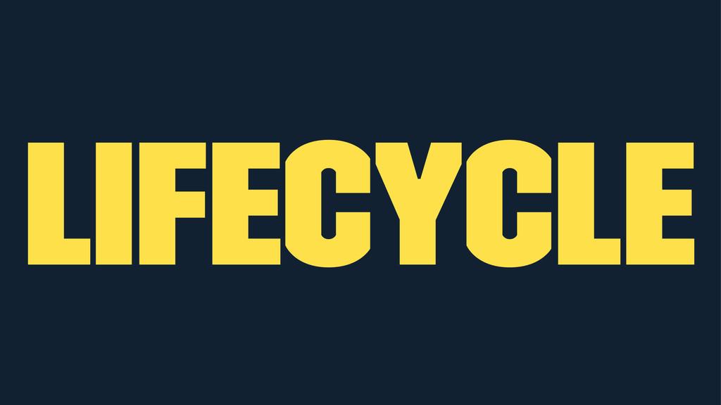 Lifecycle