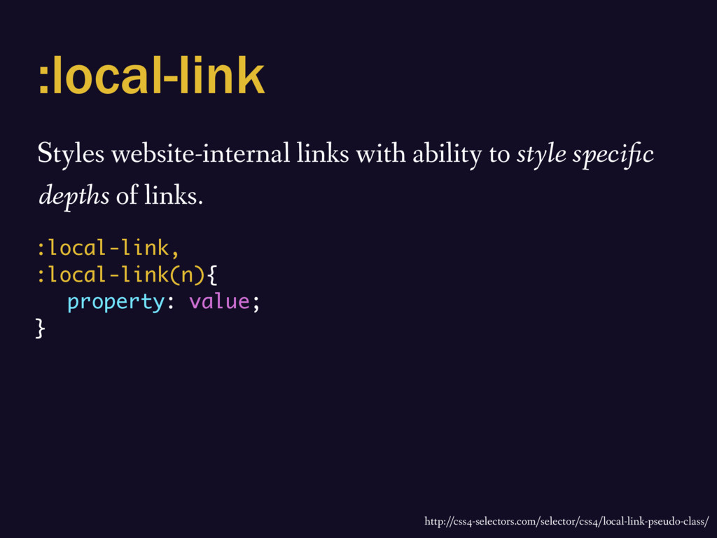 :local-link Styles website-internal links with ...