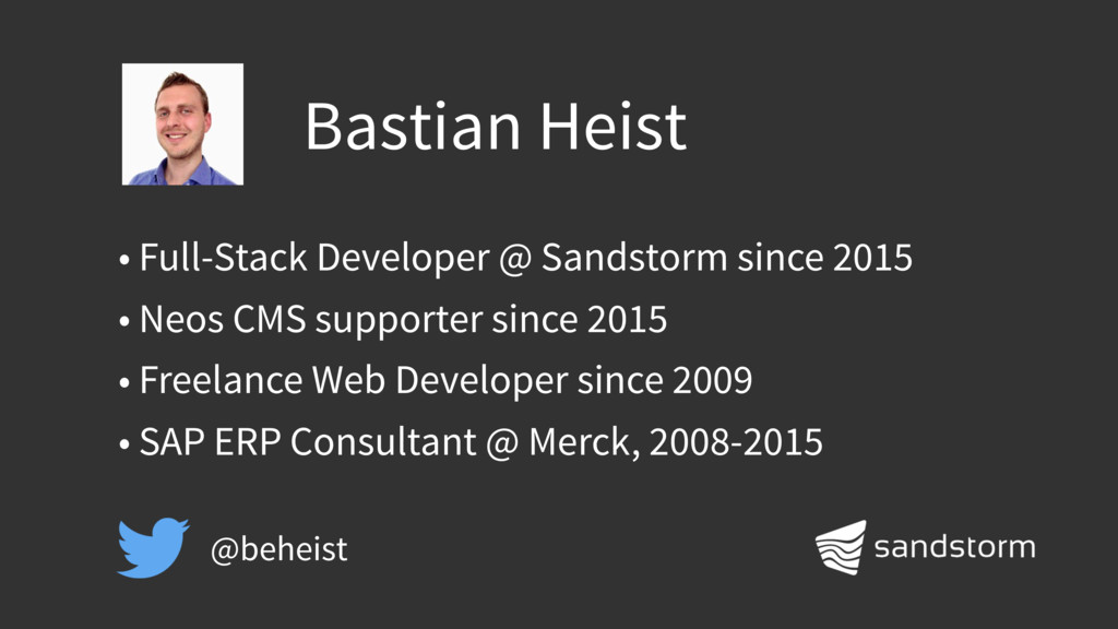 Bastian Heist • Full-Stack Developer @ Sandstor...