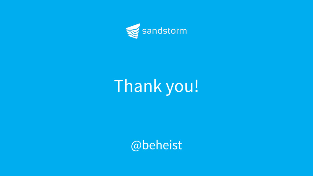 Thank you! @beheist