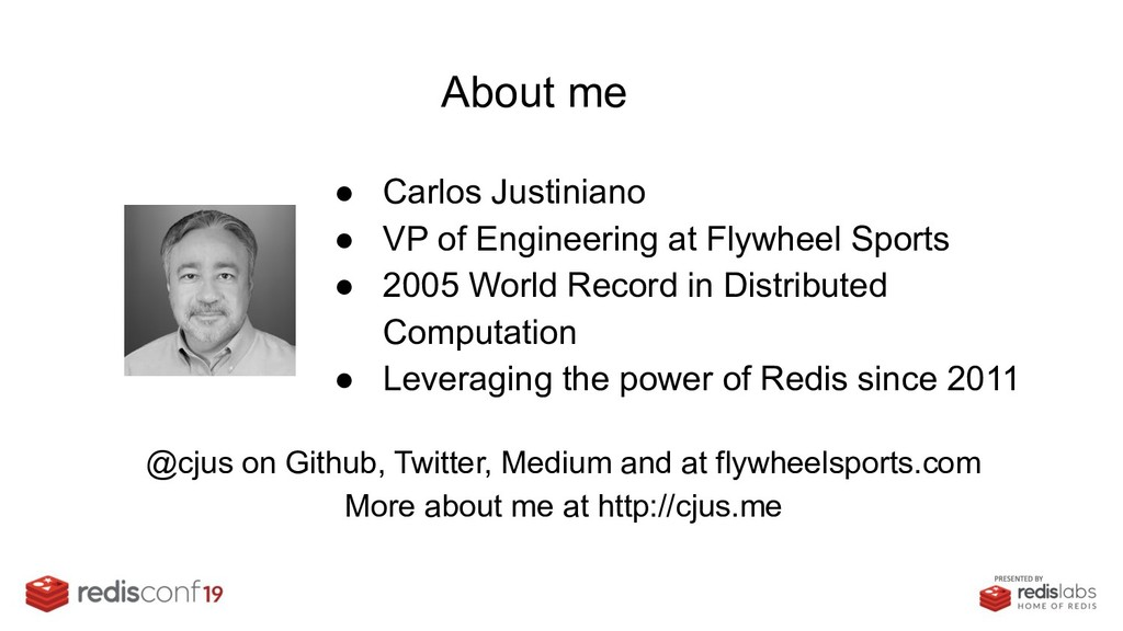 About me ● Carlos Justiniano ● VP of Engineerin...