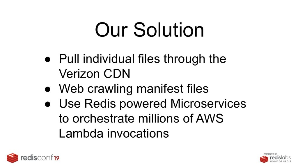 Our Solution ● Pull individual files through th...