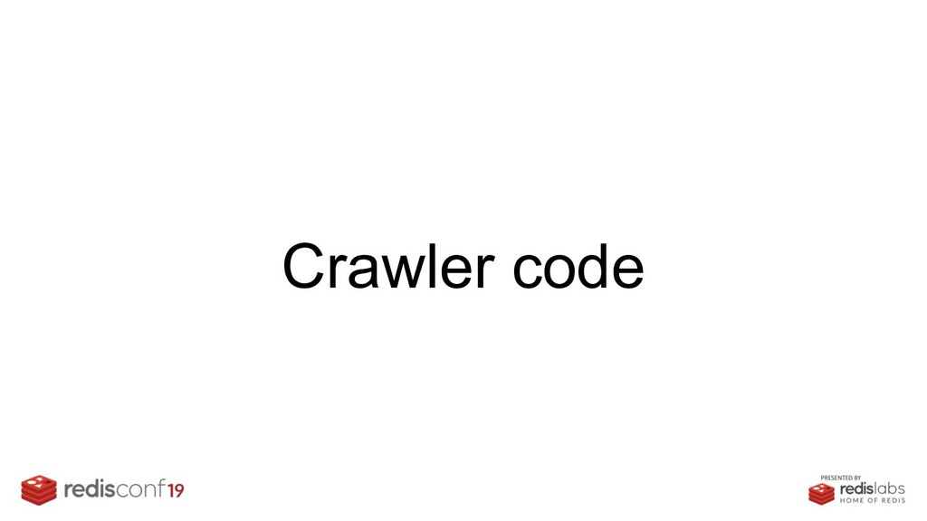 Crawler code