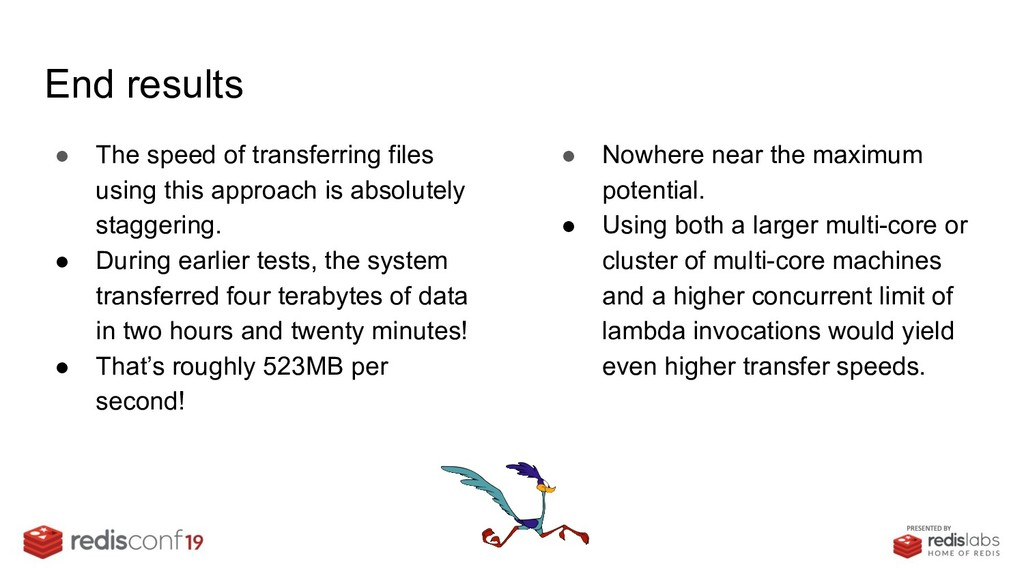 End results ● The speed of transferring files u...