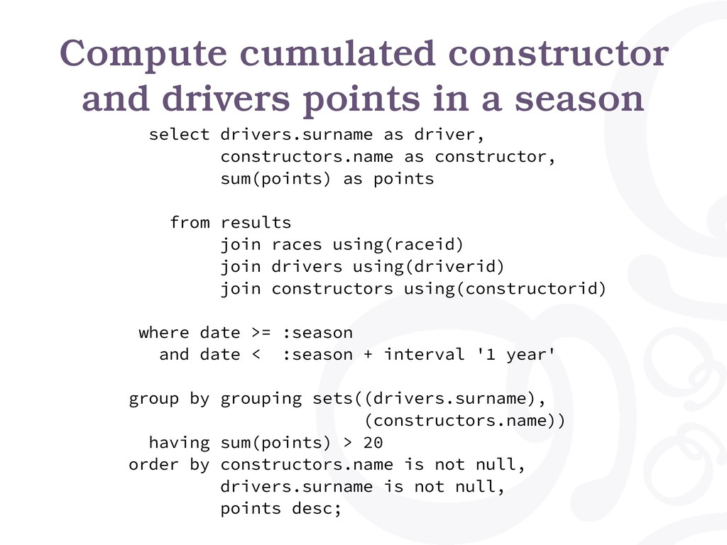 Compute cumulated constructor and drivers point...