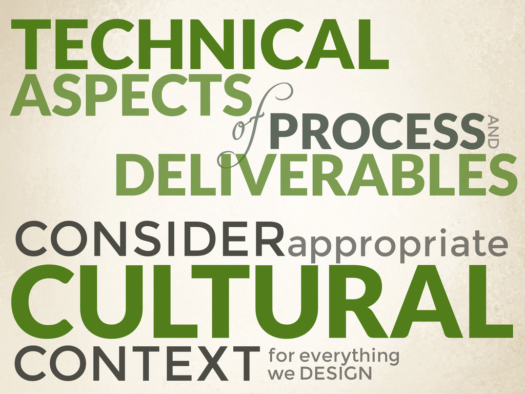 TECHNICAL PROCESS ASPECTS of DELIVERABLES AND C...