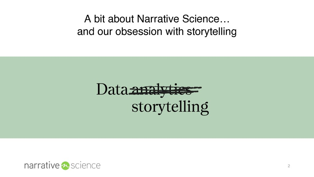 2 A bit about Narrative Science… and our obsess...