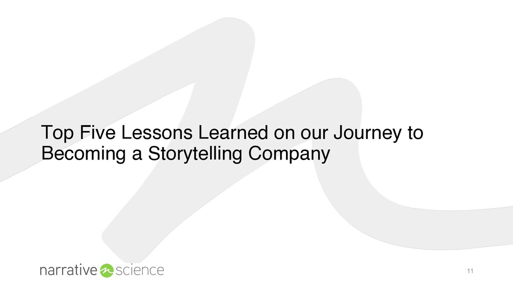 11 Top Five Lessons Learned on our Journey to B...