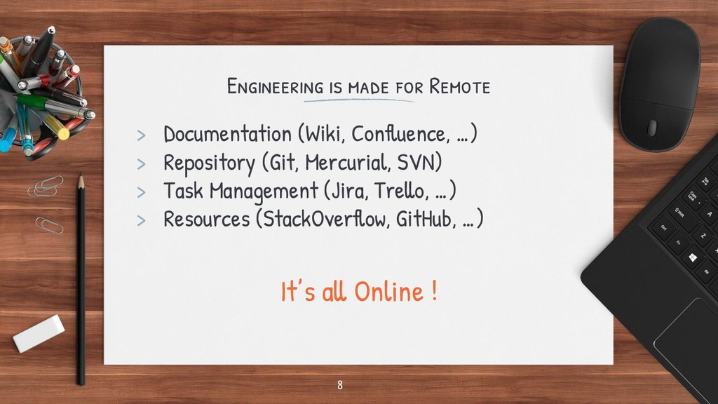 Engineering is made for Remote > Documentation ...