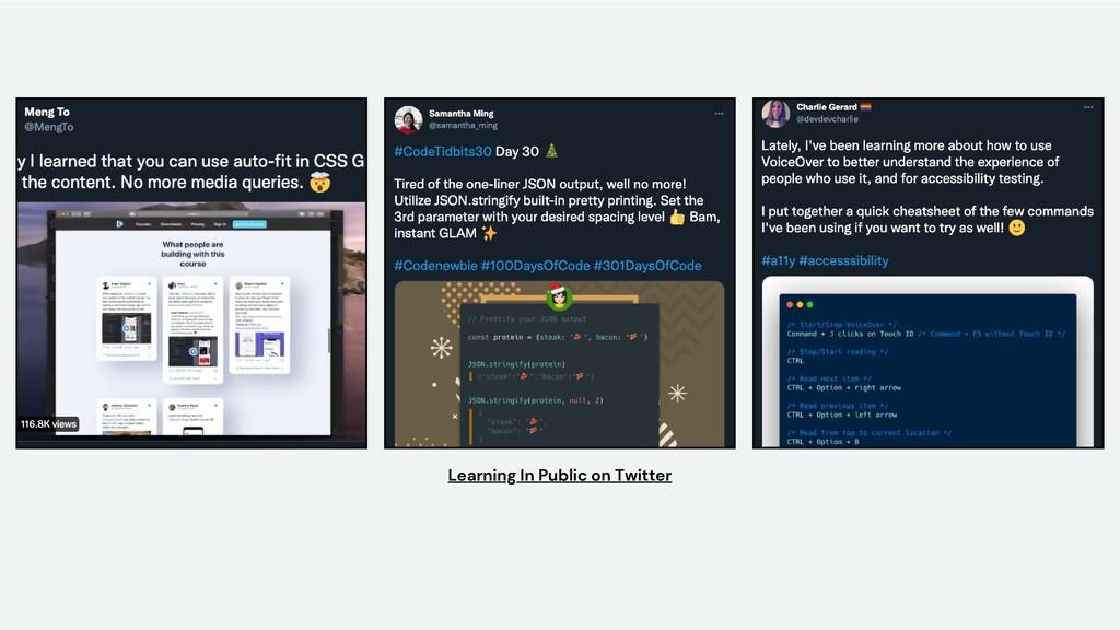 Learning In Public on Twitter