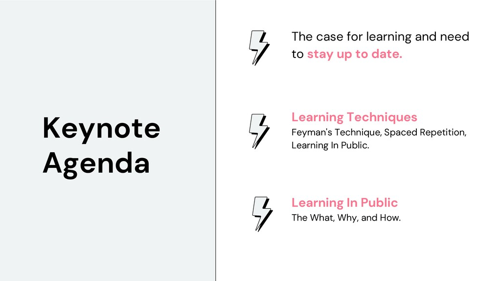 The case for learning and need to stay up to da...