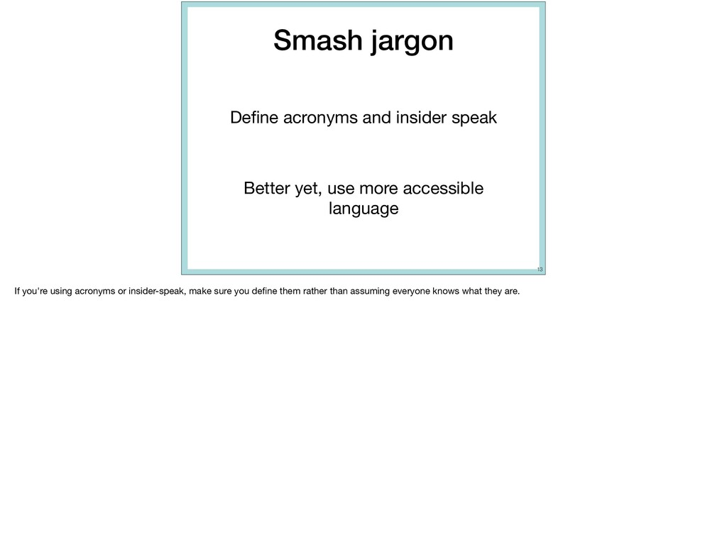 Smash jargon Define acronyms and insider speak  ...