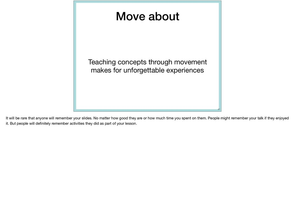 Move about Teaching concepts through movement m...