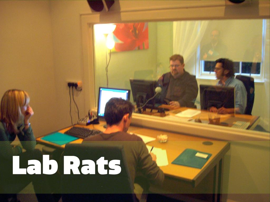 #GRMethods | @zakiwarfel Lab Rats
