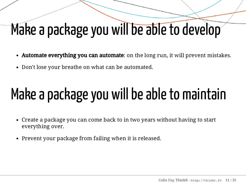 Make a package you will be able to develop Auto...