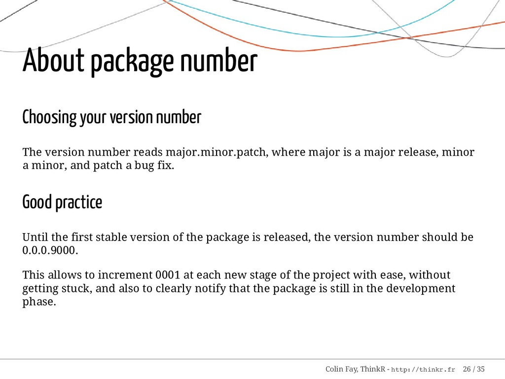 About package number Choosing your version numb...