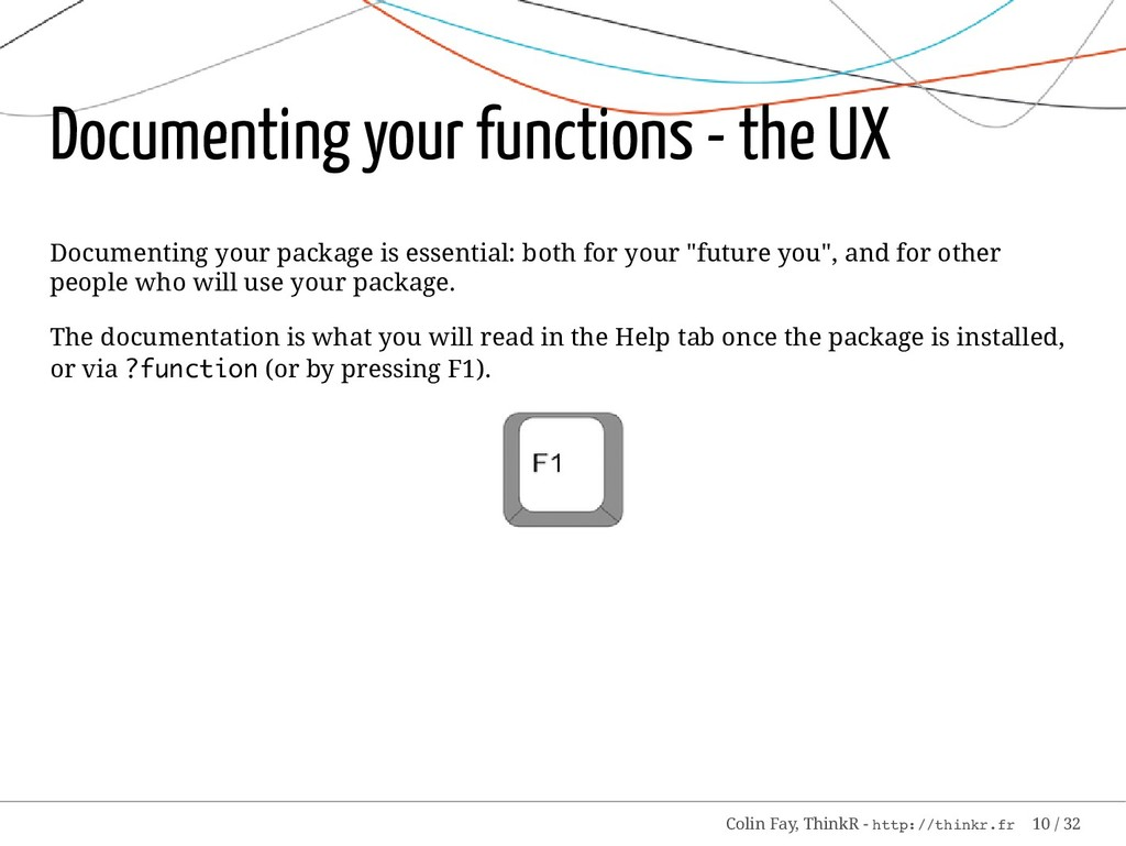 Documenting your functions - the UX Documenting...