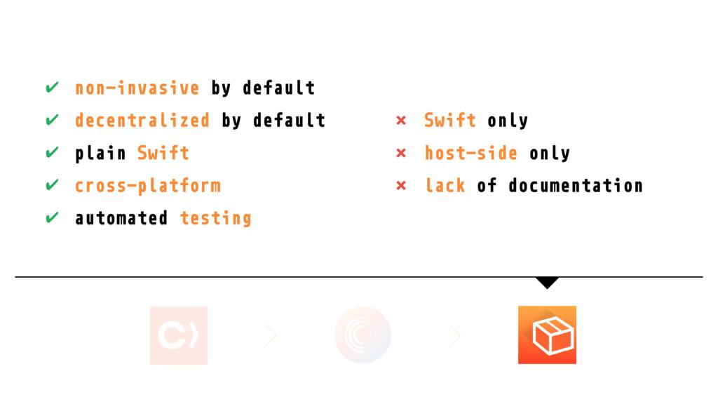 ✔ non-invasive by default ✔ decentralized by de...