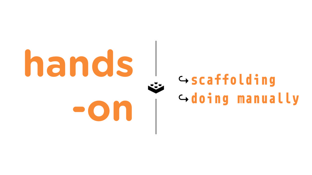 hands -on ↪scaffolding ↪doing manually