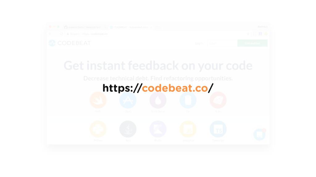 https://codebeat.co/